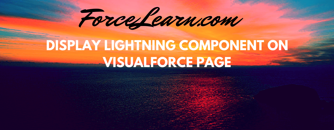 Display Lightning Component on VisualForce Page