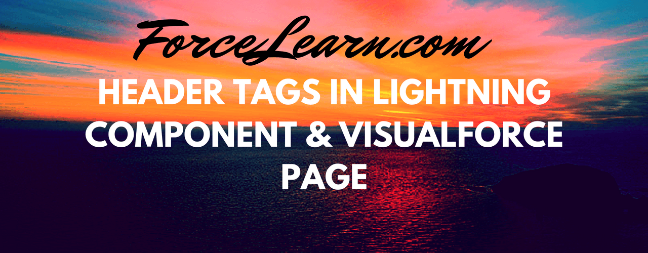 Header Tags In Lightning Component