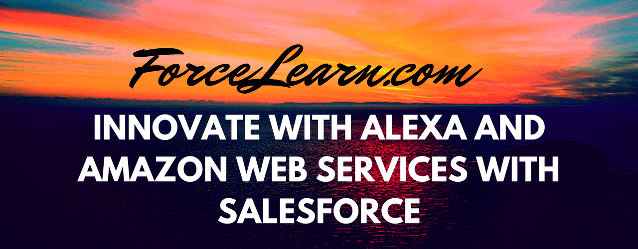 Innovate with Alexa with salesforce