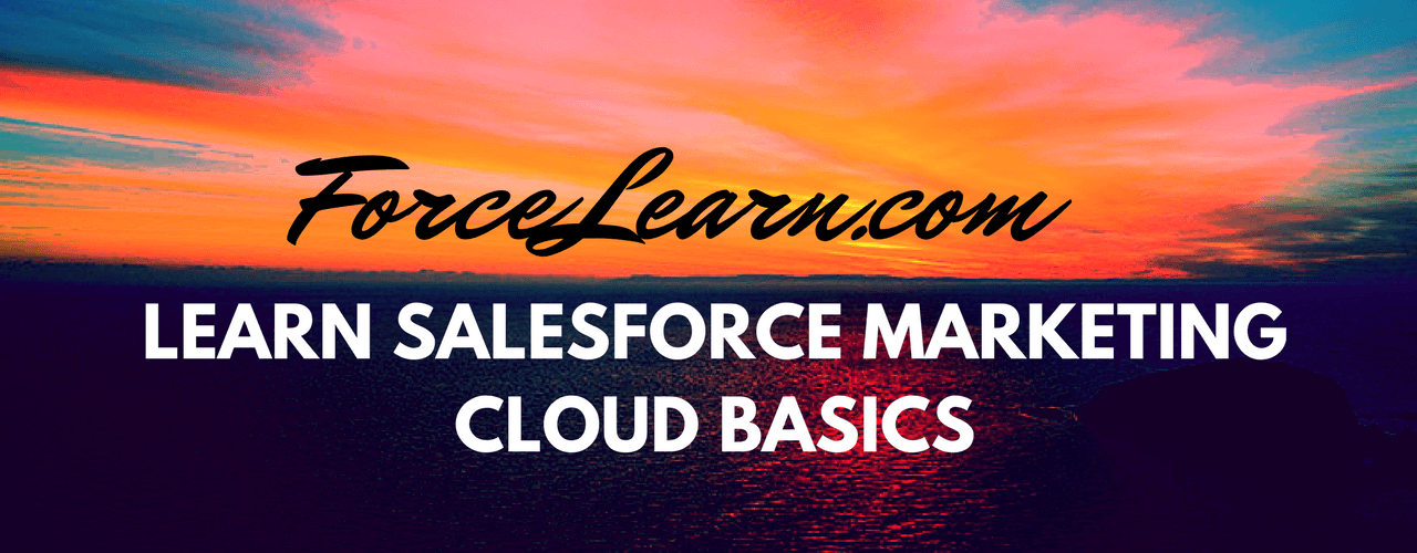 Learn Salesforce Marketing cloud Basics and Products