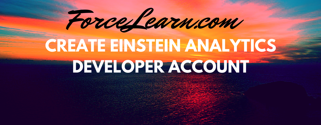 Learn basics of Einstein Analytics